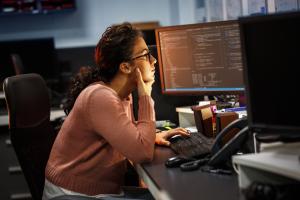 Software Developer observing