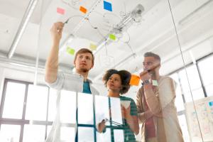 Software Developers brainstorming