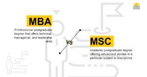 MBA vs MSc